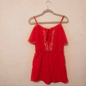 +NWOT embroidered romper+